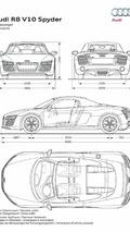 2013 Audi R8 V10 Spyder dimensions