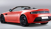 Aston Martin V12 Vantage S Roadster rendered