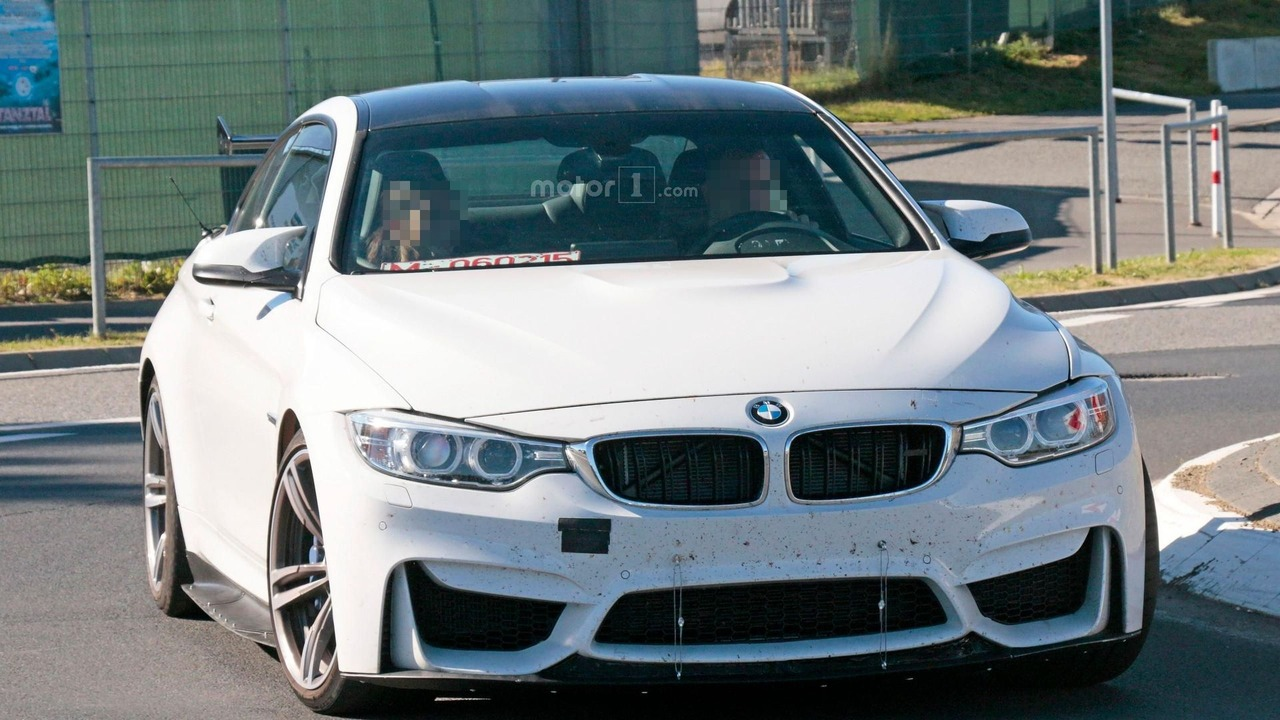 bmw m4 with aero upgrades caught on camera. Black Bedroom Furniture Sets. Home Design Ideas