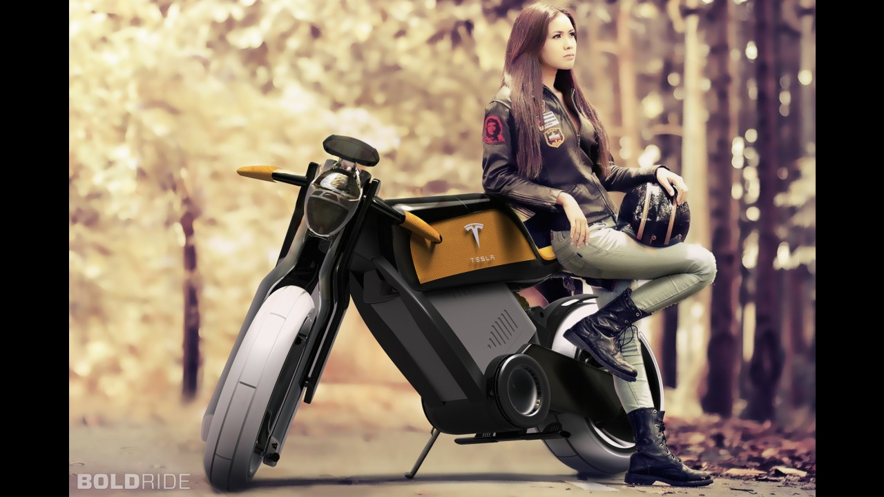 Tesla Motorcycle Concept by Marco De Toma