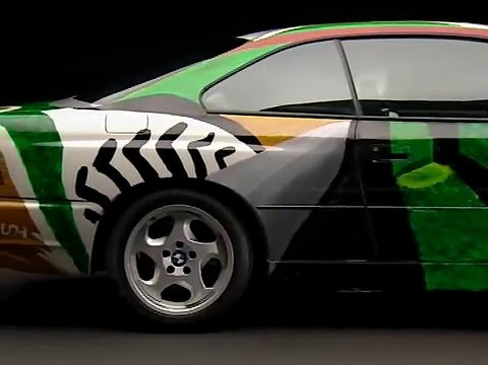 BMW 850 CSi Art Car von David Hockney, 1995