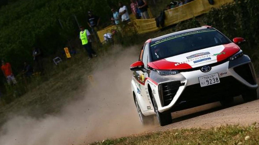 Hydrogen Toyota Mirai hits Germany WRC stages