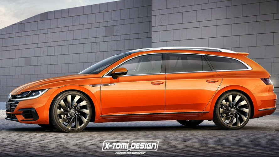 VW Arteon wagon render could (and should) happen
