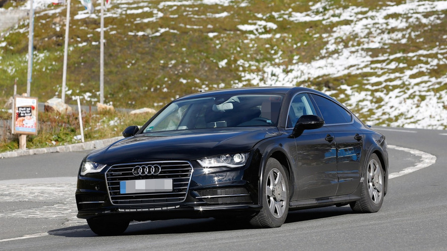 Next generation Audi A7 Sportback chassis testing mule spied