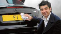 Afzal Kahn denies he is selling 'F1' license plate