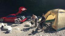 Ferrari F40 owner goes camping