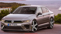 Volkswagen Passat R400 rendered, shows a possible look for Passat R