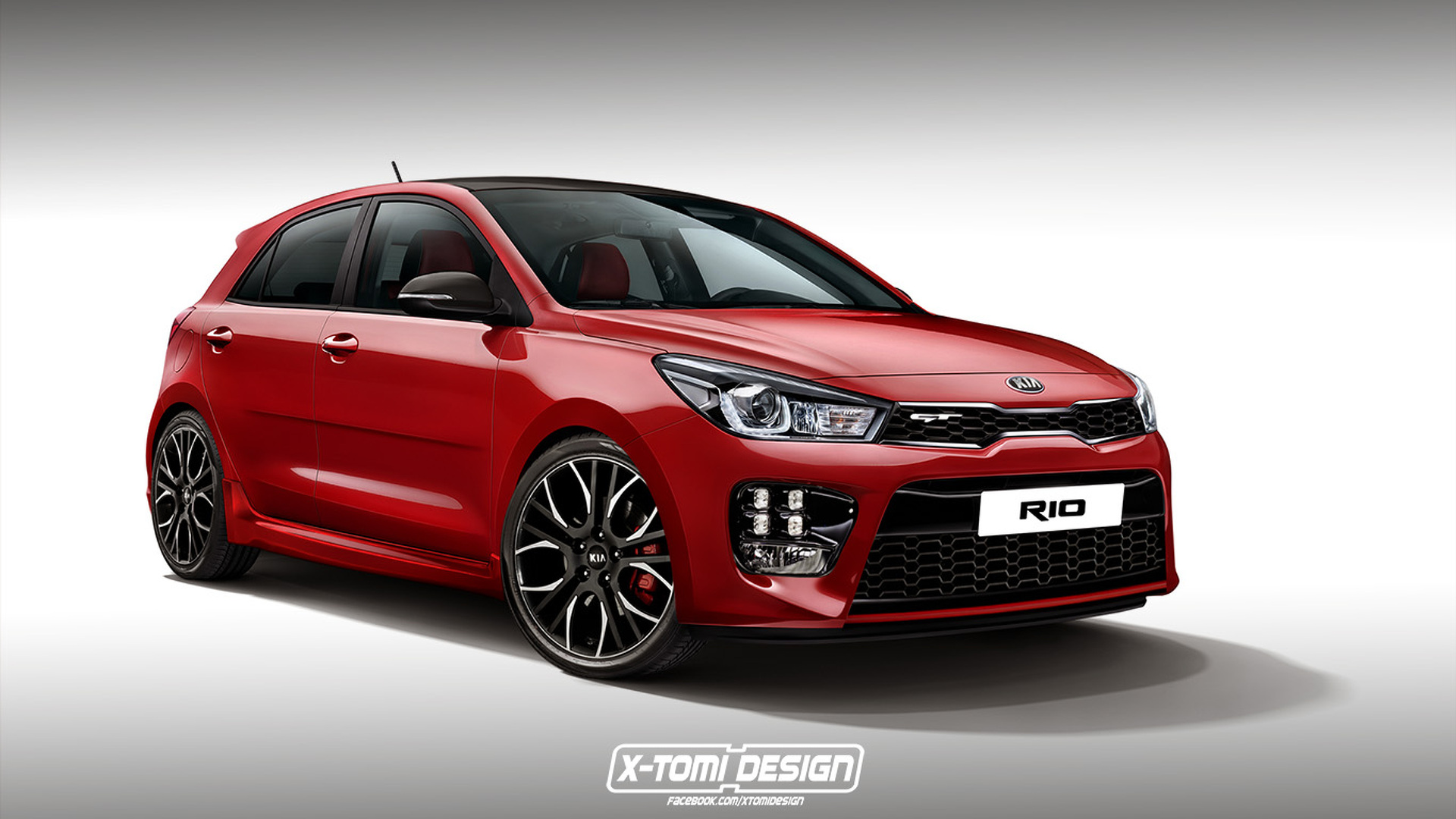 2017 kia rio rendered in spicy gt trim. Black Bedroom Furniture Sets. Home Design Ideas