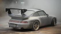 Porsche 993 Turbo fire