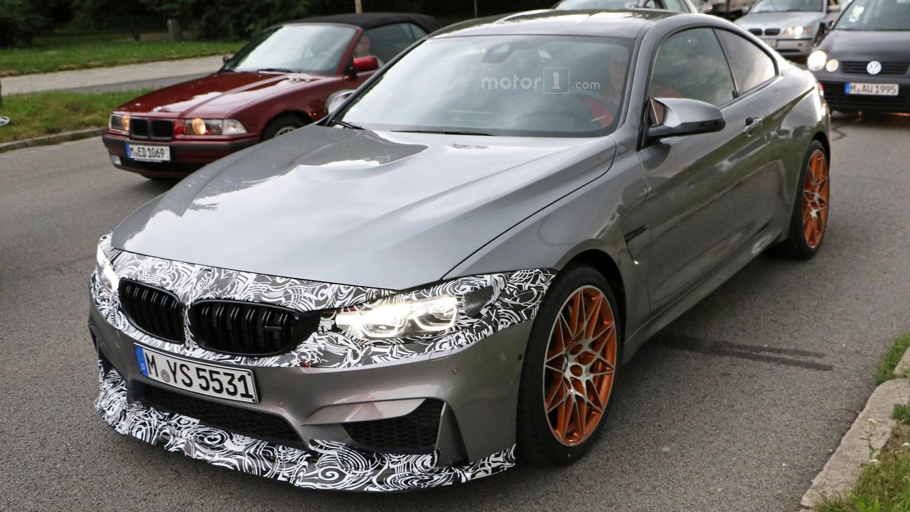 BMW M4 facelift spy photo