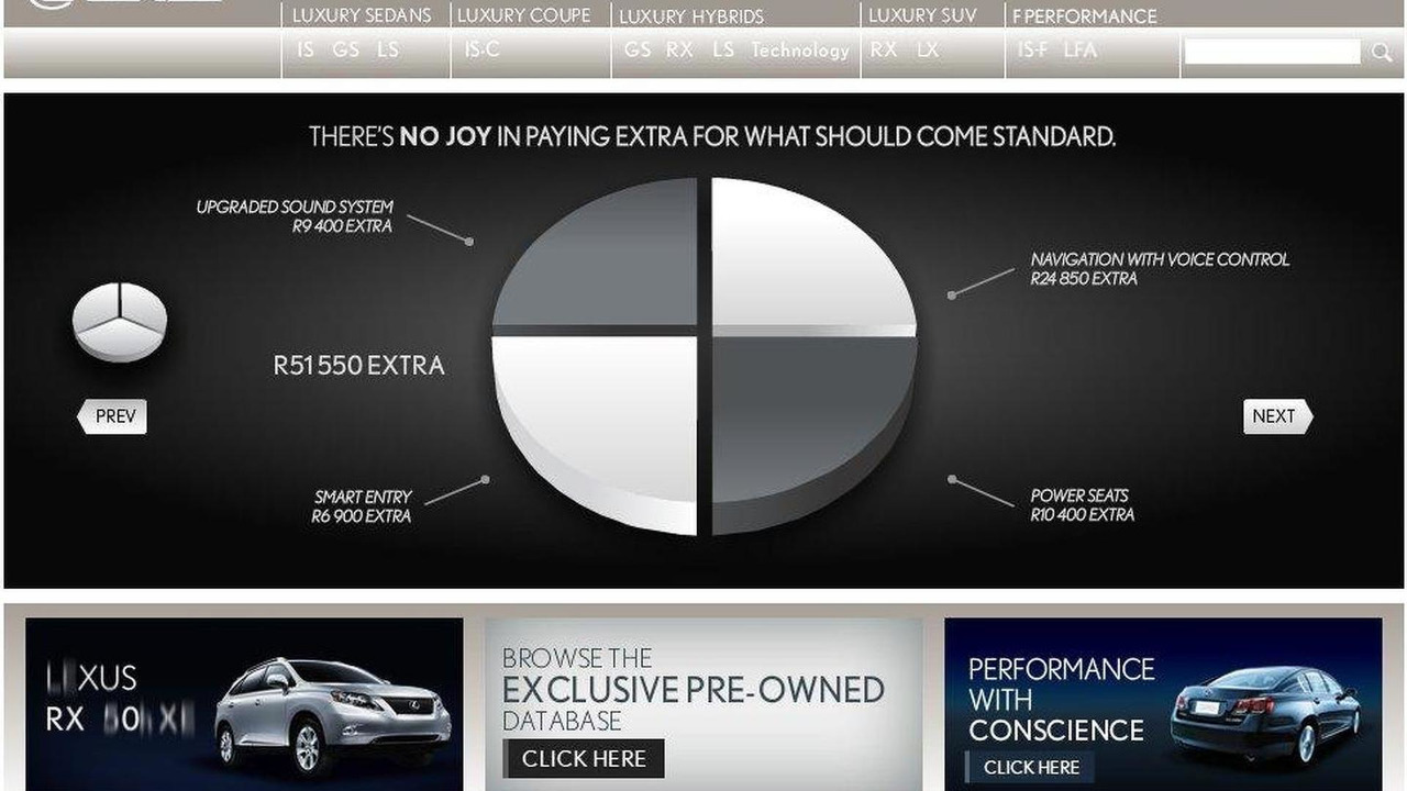 Lexus ad campaign screenshot, 1000, 26.07.2010