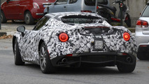 Alfa Romeo 4C QV spotted testing with full body camouflage