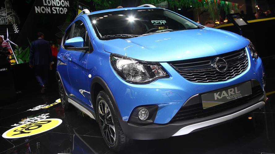 Opération séduction pour l'Opel Karl Rocks au Mondial de Paris