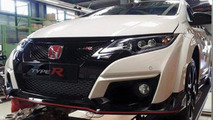 Honda Civic Type R spied up close undisguised