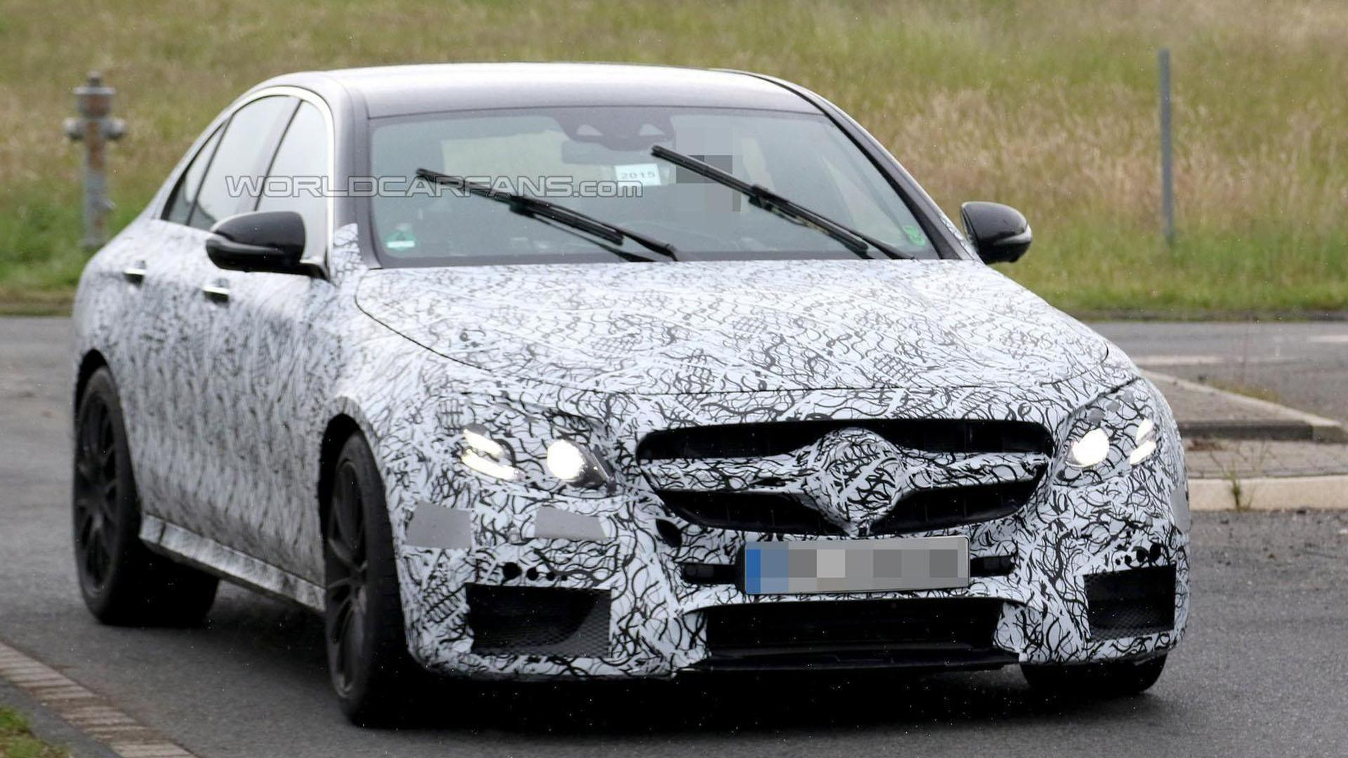 2016 Mercedes E63 AMG spied wearing a production body