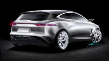 Speculative rendering of Jaguar front-wheel drive compact model 12.08.2013