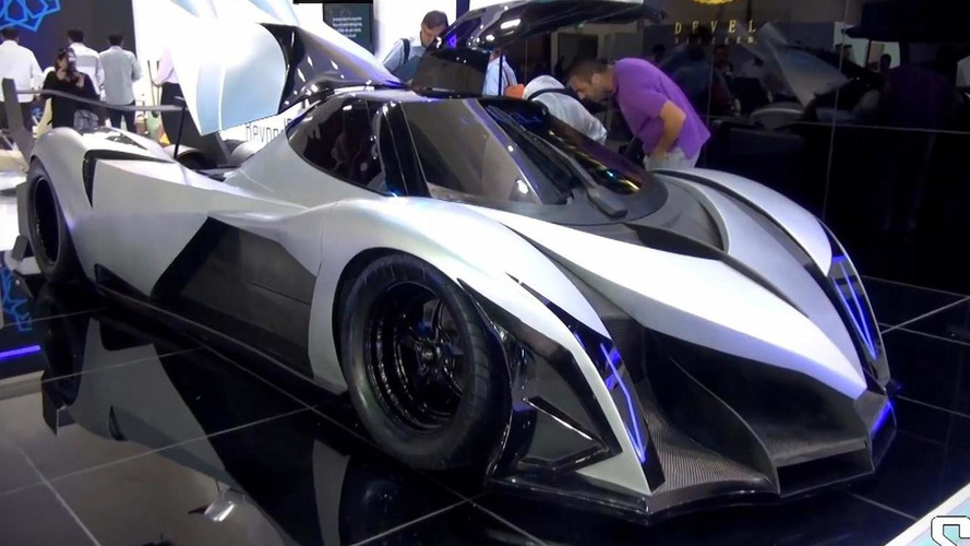 V16 5,000 bhp Devel Sixteen unveiled at Dubai Motor Show is probably a prank [video]