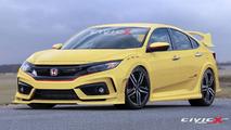 Honda Civic Type R hatchback superbly rendered
