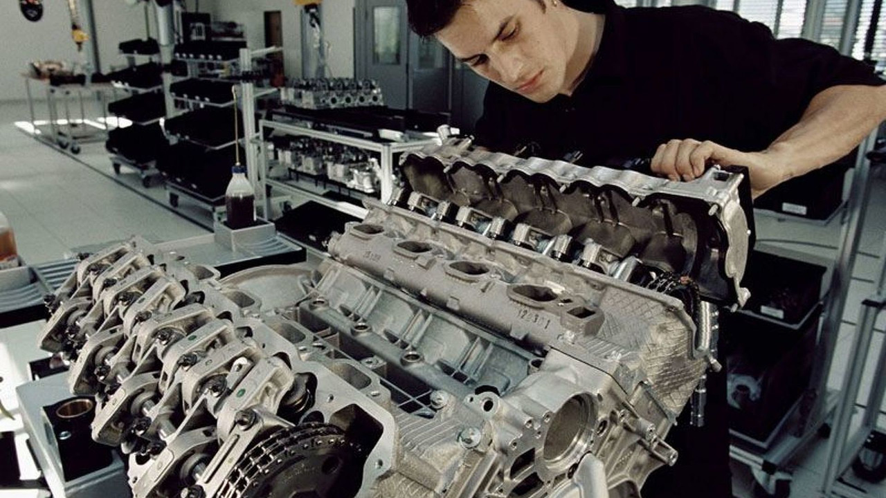 AMG engine assembly in Affalterbach