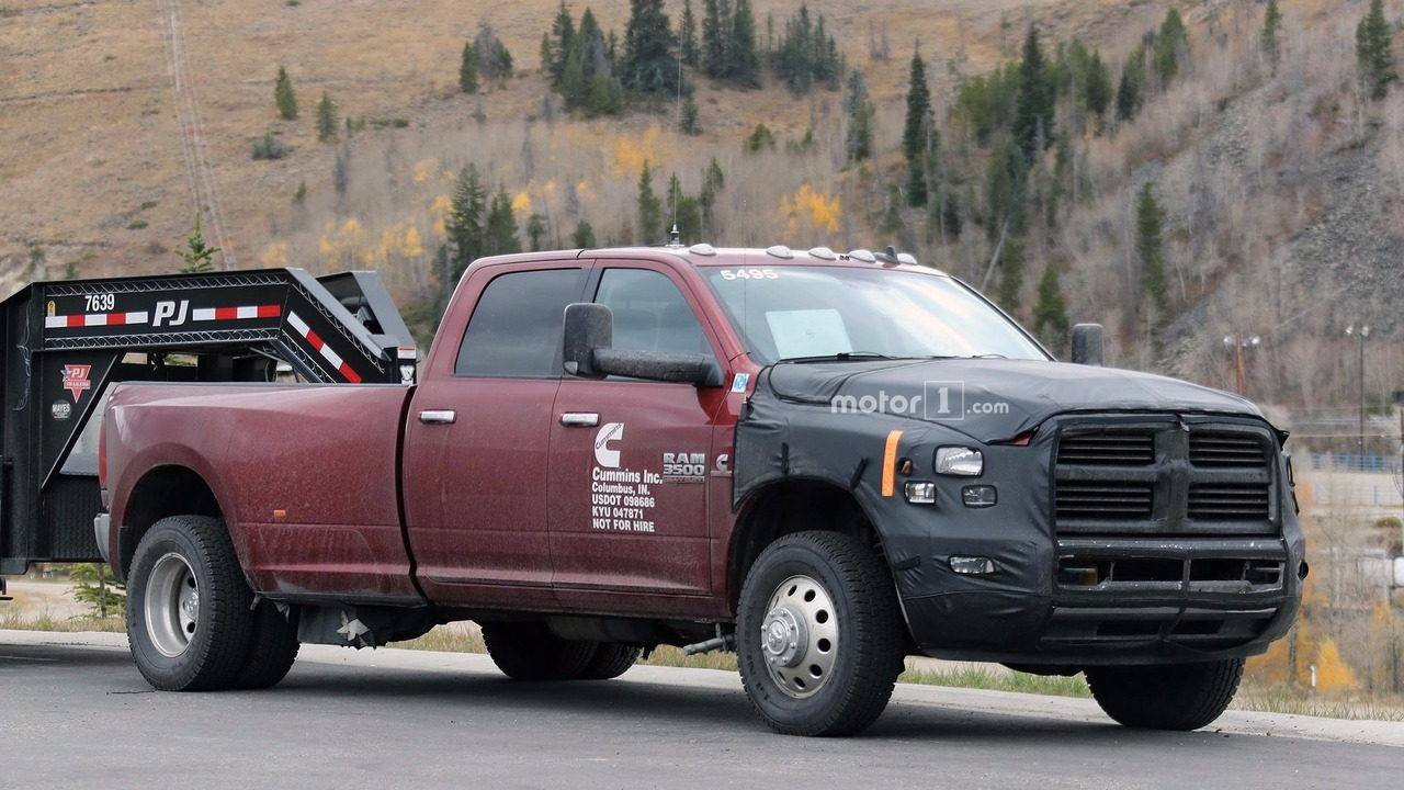 2018 ram 2500 and 3500 spied hauling in the mountains. Black Bedroom Furniture Sets. Home Design Ideas