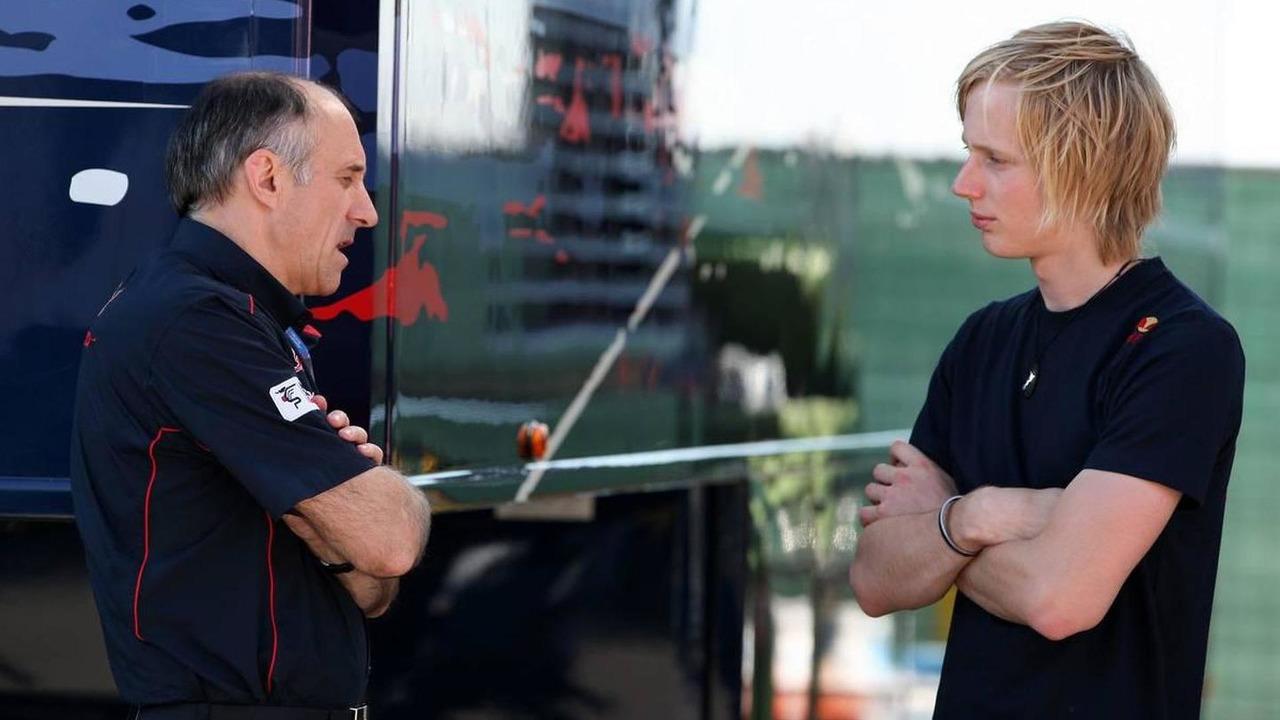 Franz Tost (AUT), Scuderia Toro Rosso, Team Principal, Brendon Hartley, Red Bull reserve driver, Turkish Grand Prix, 27.05.2010 Istanbul, Turkey