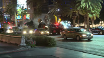 Check out this behind the scenes footage of Jason Bourne Vegas car chase
