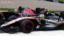 Carlos Sainz Jr. and Sergio Perez battle for position, Austrian GP 2016