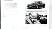 2010 Mercedes E-Class sedan brochure scans leaked