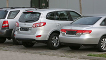 2010 Hyundai Sante Fe facelift spy photos in Death Valley