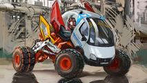 Gazel Russian Monster Robot Car