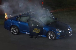 Chevy SS Pace Car Catches Flames During NASCAR Race [video]