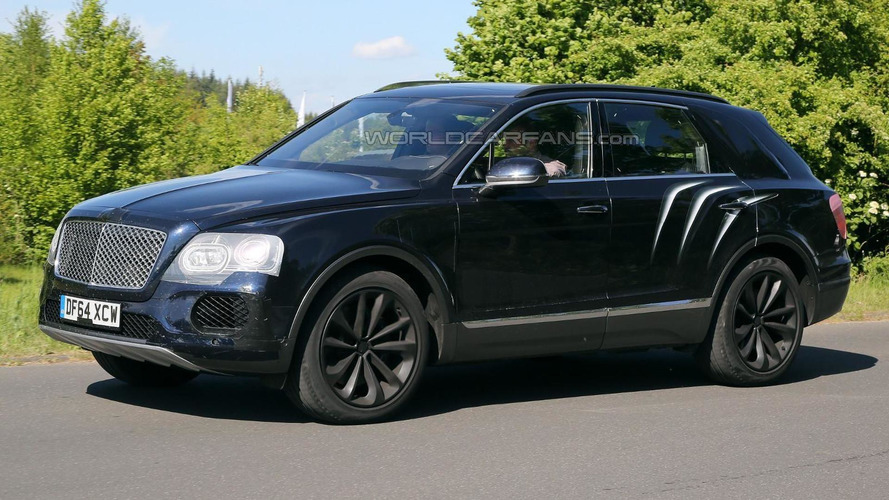 Bentley Bentayga SUV prototype latest spy video on street and Nurburgring