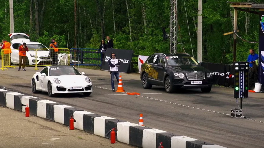 Watch a Bentley Bentayga run 1/4 mile in 12.5 seconds