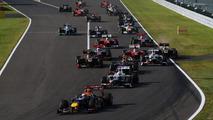 Japanese Grand Prix start, Suzuka Circuit 07.10.2012