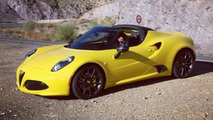 Production Alfa Romeo 4C Spider spied completely undisguised