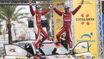 WRC2 champions Nasser Al-Attiyah and Matthieu Baumel, Skoda Fabia R5