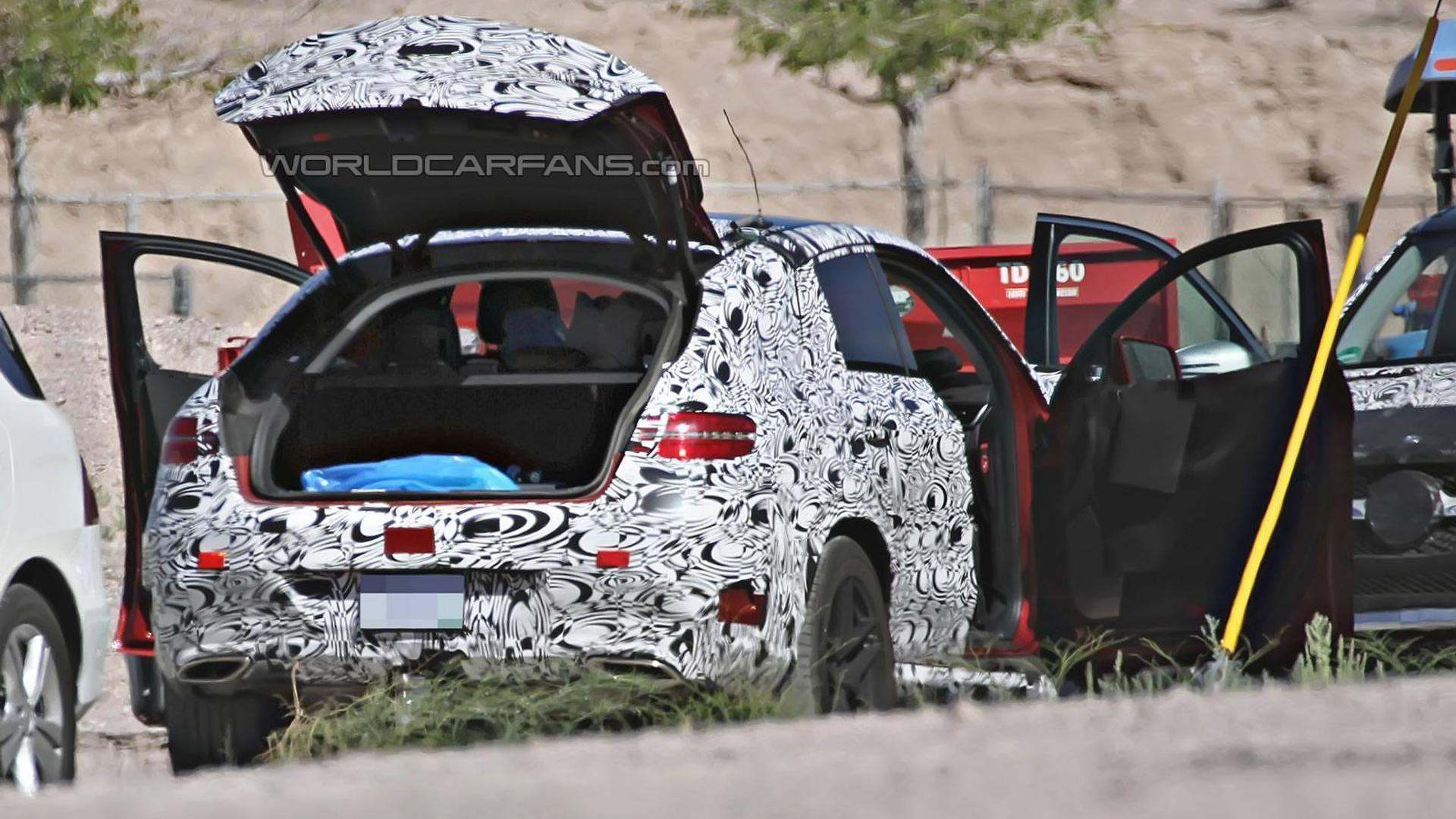 2016 Mercedes-Benz ML Coupe shows its small trunk in latest spy shots, AMG version also spotted