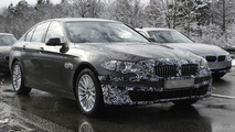 2014 BMW 5-Series spied with minimal disguise