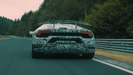 Lamborghini Huracan Performante teaser hints at active aerodynamics