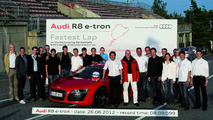 Audi R8 e-tron: world record on the Nürburgring Nordschleife, June 26, 2012