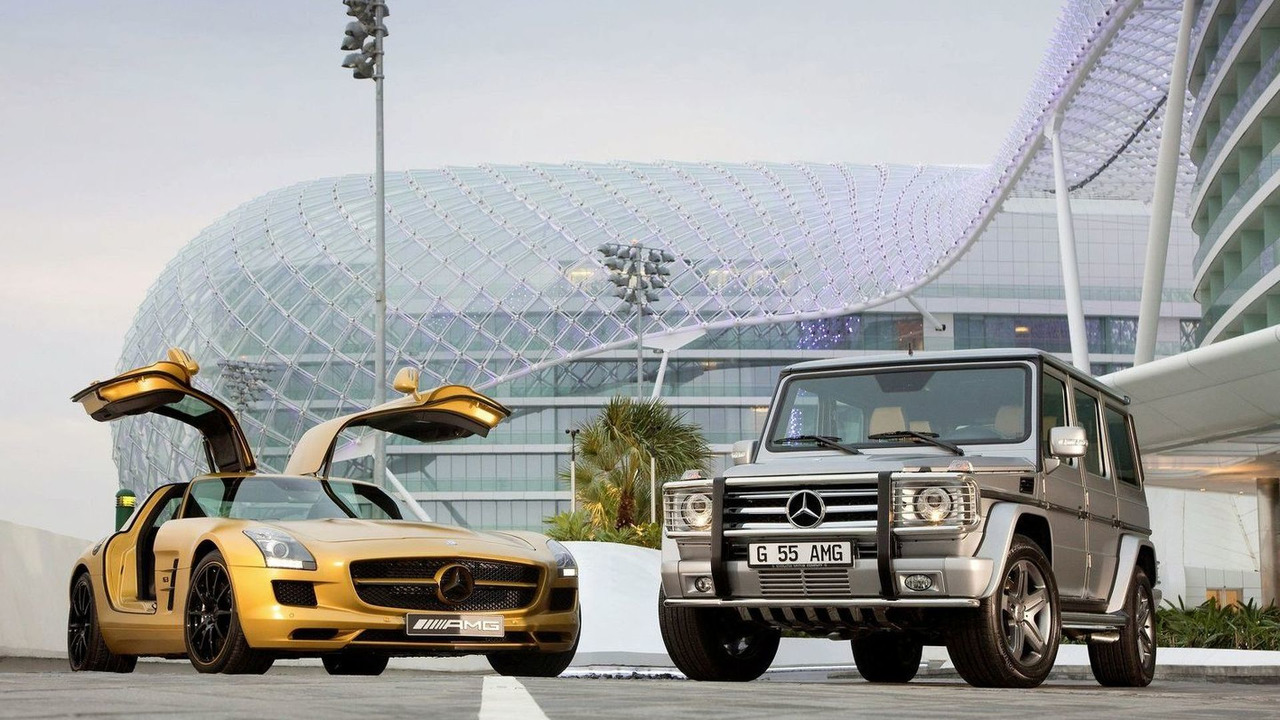 Mercedes SLS AMG Desert Gold and G 55 AMG Edition 79