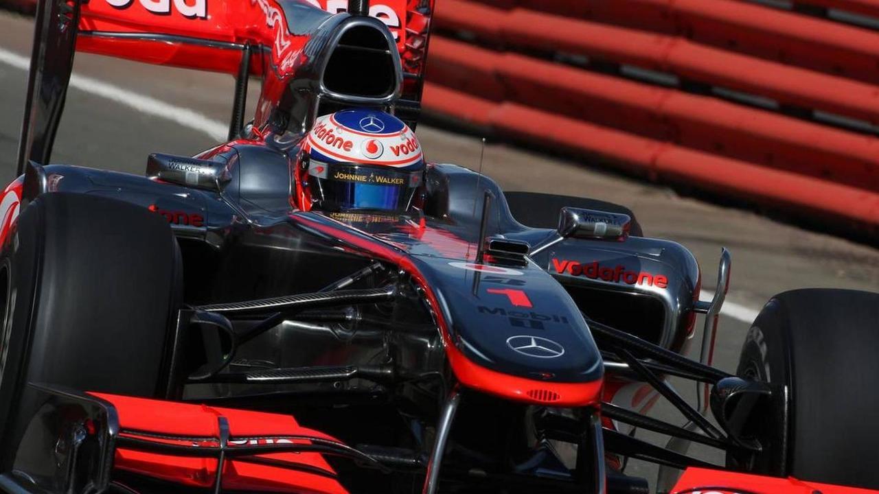 Jenson Button (GBR), McLaren Mercedes, British Grand Prix, Friday Practice, 09.07.2010 Silverstone, England