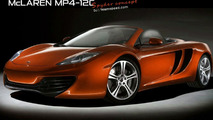 McLaren MP4-12C Spider artist rendering