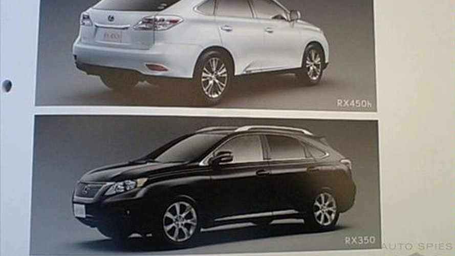 2010 Lexus RX 350 and 450h Brochure Images Leaked