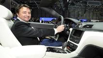 Maserati GranCabrio Sport live in Geneva with former F1 driver René Arnoux - 01.03.2011