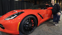 Baltimore Ravens Quarterback Joe Flacco with the 2014 Chevrolet Corvette - 04.2.2013