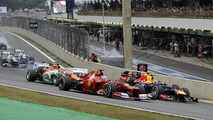 Brazilian grand prix race start 25.11.2012