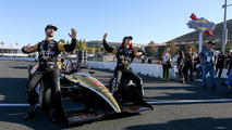 Sharna Burgess with James Hinchcliffe at IndyCar Sonoma GP