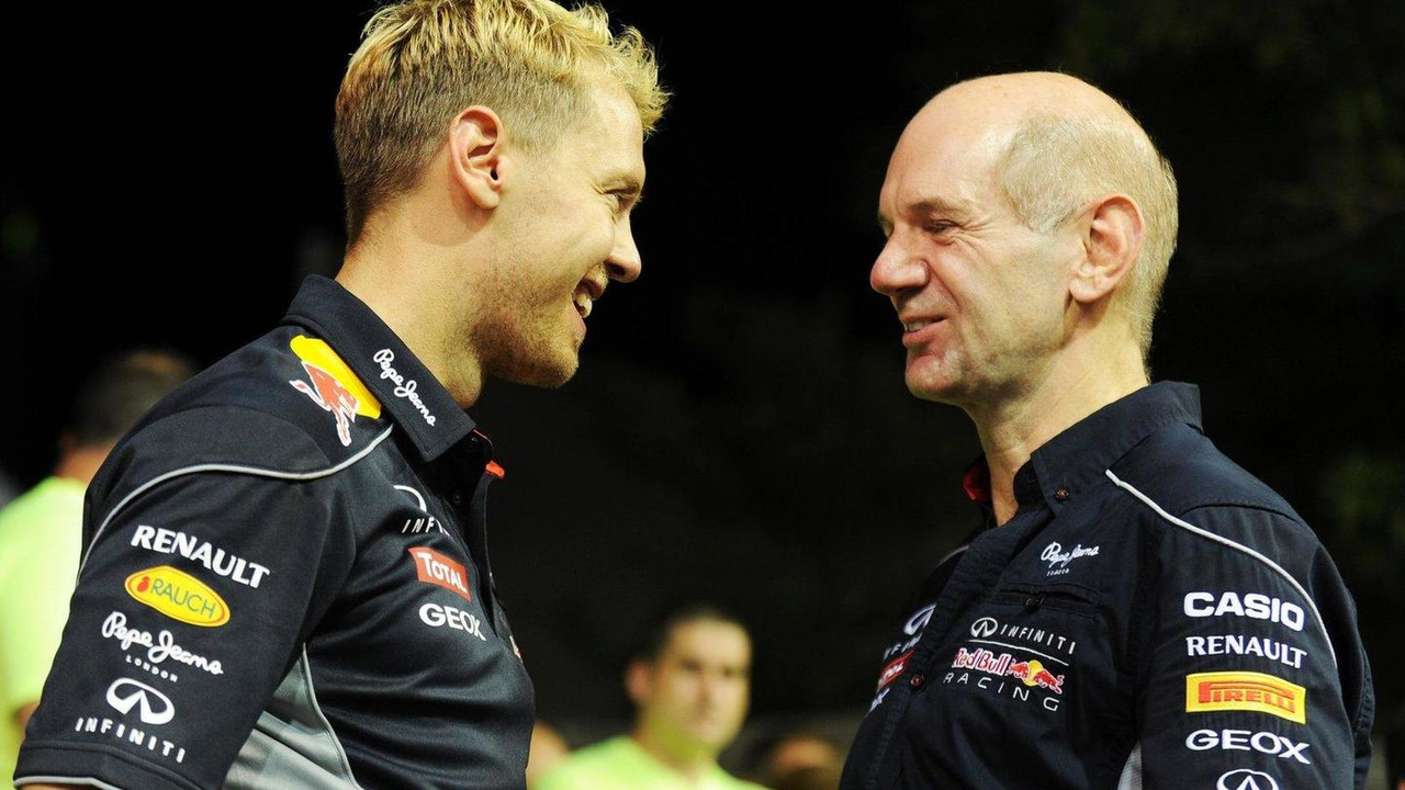 Sebastian Vettel with Adrian Newey 22.09.2013 Singapore Grand Prix