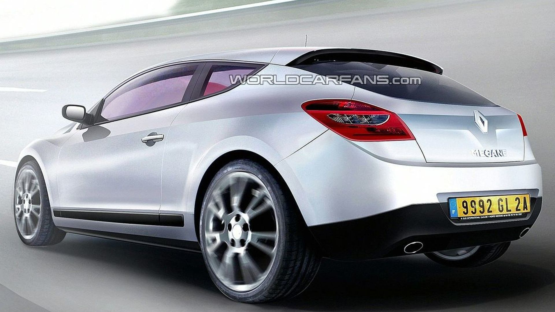 Renault Megane III Coupe Latest Rendering and Spy Photos